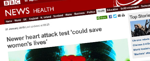 New heart attack test 'could save women's lives'